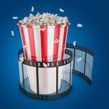 Popcorn and film Stock Image