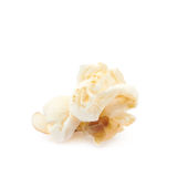 Popcorn flake isolated. Cooked popcorn flake isolated over the white background Royalty Free Stock Photo