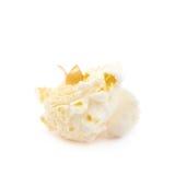 Popcorn flake isolated. Cooked popcorn flake isolated over the white background Stock Image