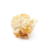 Popcorn flake isolated. Cooked popcorn flake isolated over the white background Stock Photography
