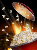 Popcorn Flying. Royalty Free Stock Images