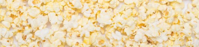 Popcorn fritto scoperto, fine su come fondo immagini stock libere da diritti