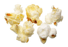 Popcorn, getrennt Stockfoto