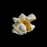 Popcorn getrennt auf Schwarzem Lizenzfreies Stockbild