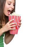 Popcorn Girl Stock Images