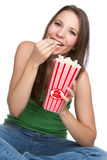 Popcorn Girl Royalty Free Stock Photos