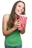 Popcorn Girl Royalty Free Stock Photography