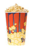 Popcorn glass. Isolated [with clipping path Royalty Free Stock Photo