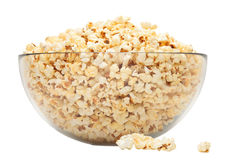 Popcorn in glass bowl Royalty Free Stock Image