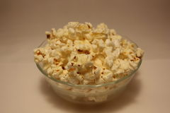 Popcorn in a glass container Royalty Free Stock Images