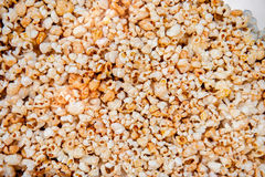 Popcorn in glass container Stock Images
