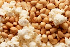 Popcorn and groundnut, Nigerian yin yang Royalty Free Stock Photography