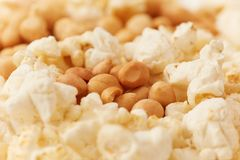 Popcorn and groundnut, Nigerian yin yang Royalty Free Stock Images