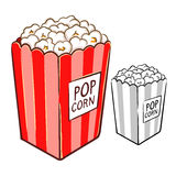 Popcorn Hand Drawing Illustration Stock Images