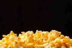 Popcorn heap on black background Stock Photography