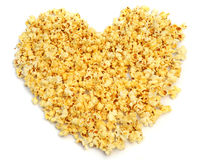 Popcorn heart. Stock Photography