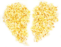 Popcorn heart. Royalty Free Stock Photography