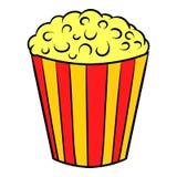 Popcorn icon cartoon. Popcorn icon in cartoon style isolated vector illustration Stock Photo