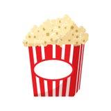 Popcorn icon, cartoon style. Popcorn icon in cartoon style isolated on white background. Food symbol Stock Photos
