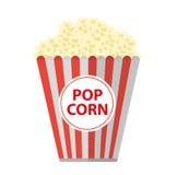 Popcorn. icon flat, cartoon style. Isolated on white background. Vector illustration, clip-art. Popcorn. icon flat, cartoon style. Isolated on white background Stock Image