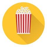 Popcorn icon. Flat design,  illustration Royalty Free Stock Photos