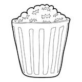 Popcorn icon, outline style. Popcorn icon. Outline illustration of popcorn vector icon for web design Royalty Free Stock Photography