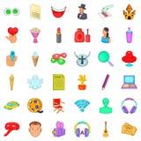 Popcorn icons set, cartoon style. Popcorn icons set. Cartoon style of 36 popcorn vector icons for web isolated on white background Royalty Free Stock Photography