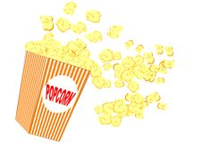 Popcorn illustration Royalty Free Stock Image