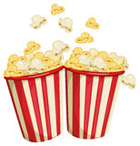 Popcorn. Illustration of two packs of popcorn Royalty Free Stock Images