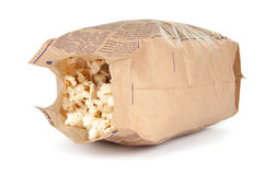 Popcorn In A Paper Bag Stock Images