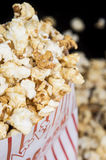 Popcorn on black background Royalty Free Stock Photo