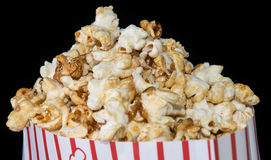 Popcorn on black background Stock Photo