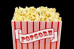 Popcorn Isolated Over Black Stock Photography