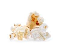Popcorn isolated on white Royalty Free Stock Photos