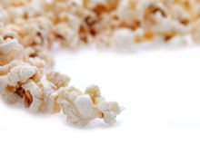 Popcorn isolated on white Stock Photography