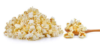 Popcorn isolated on the white background Stock Images
