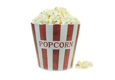 Popcorn isolated on a white background Royalty Free Stock Photos