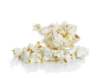Popcorn isolated on the white background Royalty Free Stock Images