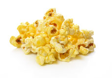 Popcorn isolated on the white background. Royalty Free Stock Photography