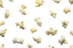 Popcorn isolated on white background. Royalty Free Stock Image