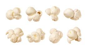 Popcorn isolato su bianco Fotografia Stock Libera da Diritti