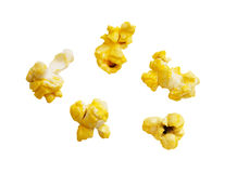 Popcorn kernels with clipping path Royalty Free Stock Photos