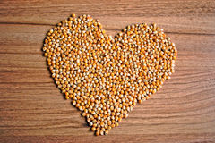 Popcorn Kernels Heart Stock Photos