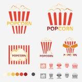 Popcorn Logo Set. For decoration artwork - vector Royalty Free Stock Image