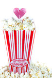 Popcorn with love Stock Photography