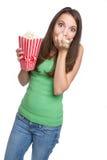 Popcorn-Mädchen Stockfotos