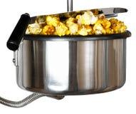 Popcorn machine. Part of Popcorn machine, isolated on white Stock Photo
