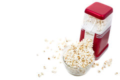 Popcorn maker and popcorn Royalty Free Stock Images