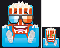 Popcorn mascot Stock Photography