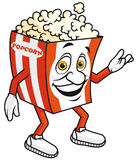 Popcorn mascot Royalty Free Stock Images